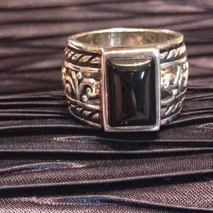 SILPADA .925 Sterling & Chalcedony Ring Size 9